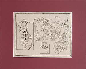 Old maps of Berkshire County towns